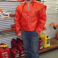Orange Rain Coat Made in Idaho