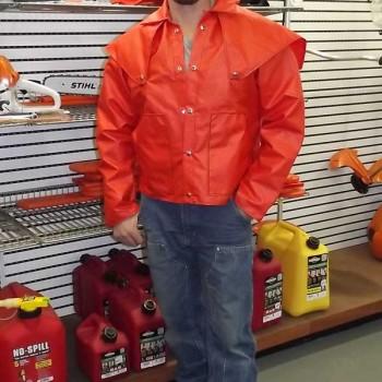 Orange Rain Coat Made in Idaho