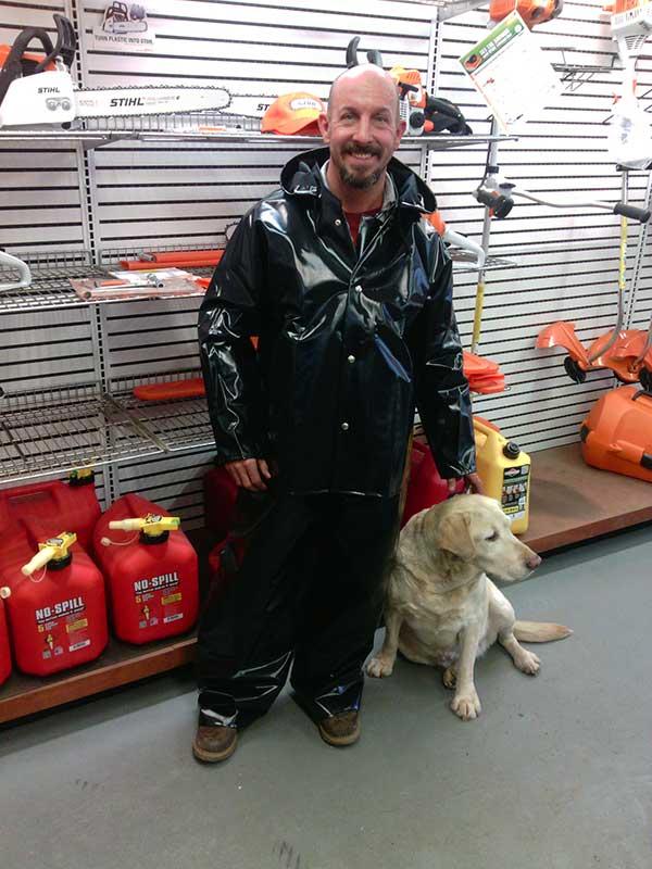 Nasco Tuff Black Rain Coat for Idaho Oregon and Washington Loggers ... 86f816d73997